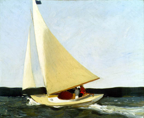 paperimages:  Edward Hopper, Sailing, ca. 1911, oil.  Carnegie Museum of Art The first painting Hopper sold.