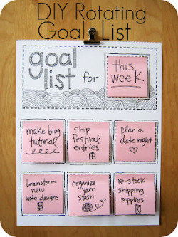 cajunmama:  (via Cornflower Blue: DIY Rotating Goal List) click for tutorial