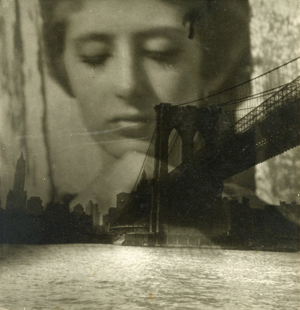 firsttimeuser:  billyjane: Shirley Berman, Brooklyn Bridge composite, 1960 by Edmund Teske *  from Craig Krull