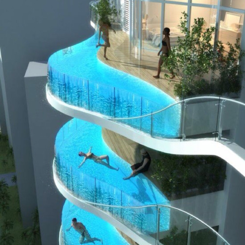 jaymug:  Balcony Pools by James Law  holy snap I would be the first in line to buy this condo.