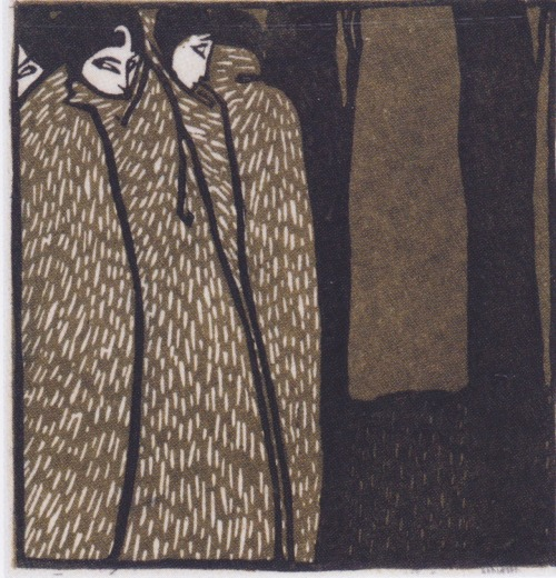 fletchingarrows:  lastdreamofjesus:  Koloman Moser.  suspicious ladies of midnight
