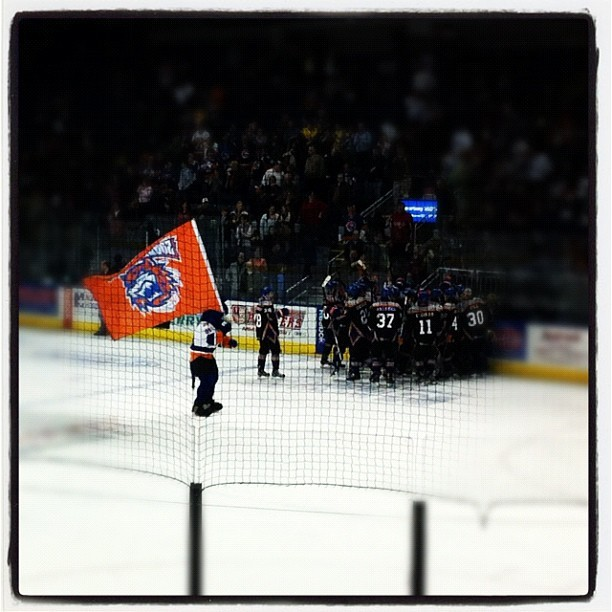 And @thesoundtigers take a bite out of the #Hershey #Bears 2-1 in a shoot out. (Taken with Instagram at Bridgeport Sound Tigers Press Box)