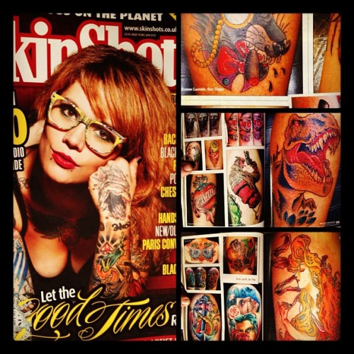my first magazine! 5 of my tattoos are in! its international so its in the US and the UK go to Barnes and Noble and pick one up!!