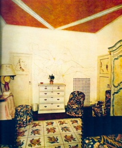 Interior by Madeleine Castaing and Jean Cocteau