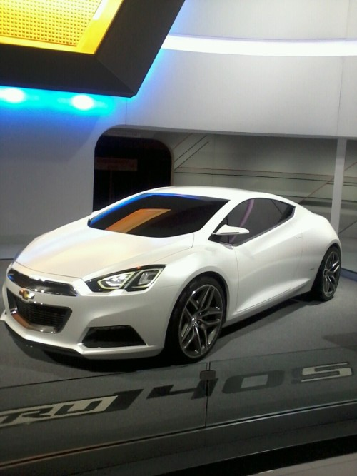 cgombash:  concept Chevy at the 2012 Chicago Auto Show.  Dang, that's a nice car!