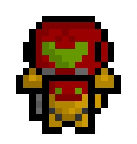 pixelblock:  Samus Aran 2.0, a much-needed remix of a previous deresolution based on Nintendo's most famous bounty hunter. 200 % more detail and still smaller than a really, really, really small thing.