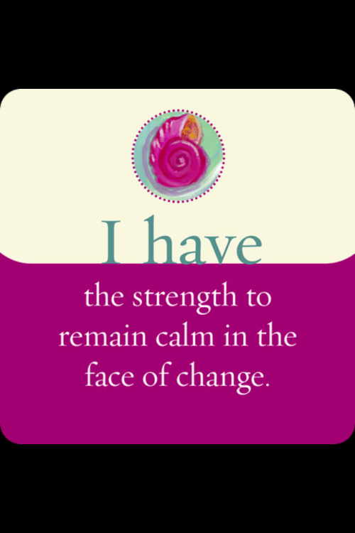 jemimarainbow:  Louise Hay. I accept coming changes and welcome them with positivity and the acceptance of a challenge.