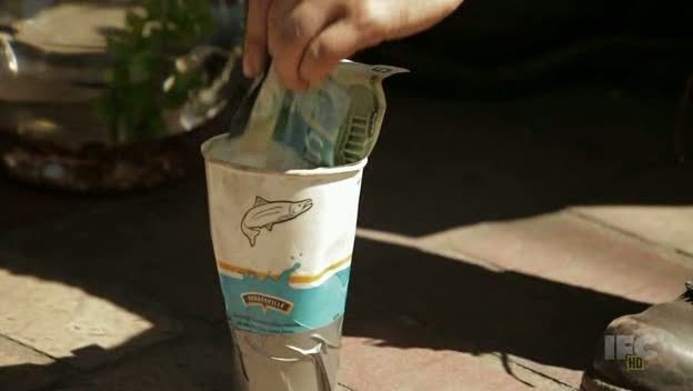 Yes, that's Canadian money on Portlandia.