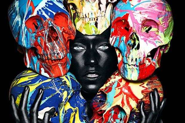 Damien Hirst + Rankin Who knew that such an amazing collaboration existed?