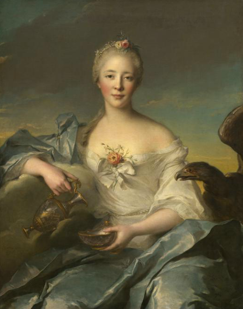 diagnosednostalgia:  Jean-Marc Nattier Madame de Caumartin as Hebe (1753)  That dress is so crisp yet flow-y.