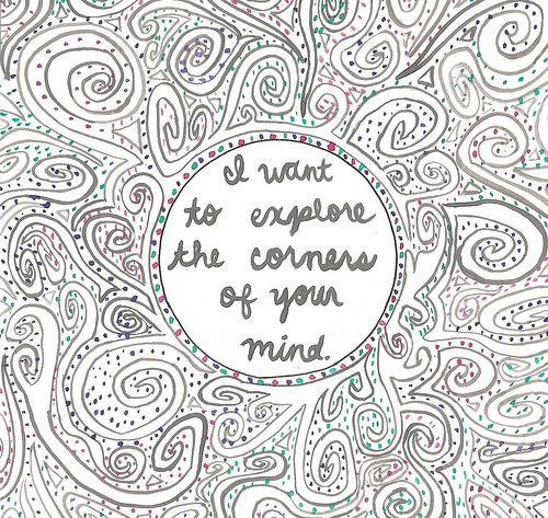 missivetoself:  The Corners of Your Mind. (by paperocean)