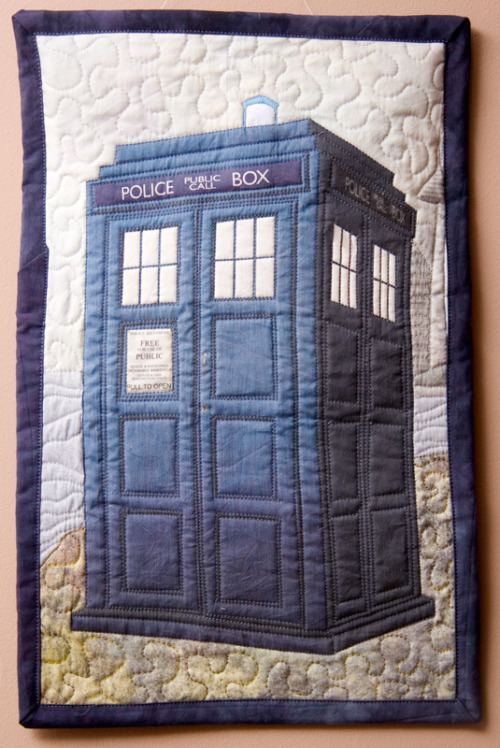 Tardis Quilt {Inspiration} Found at: craftster