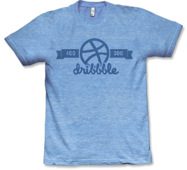 Dribbble Equipment is the new home for shirts from said designer hangout, and they've got some nice designs up. My favorite is 400×300.