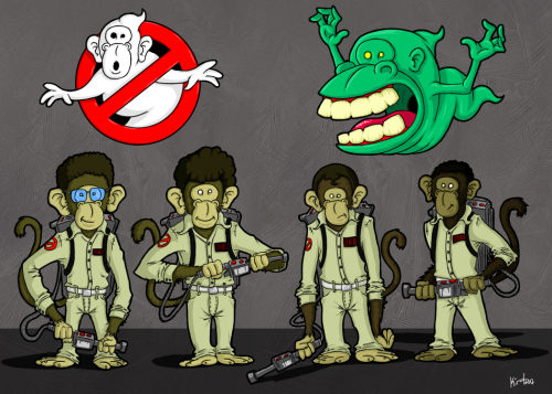 CaricaChimps #2 - Ghostbusters Bustin' makes me feel good! Yeah! Yeah! Yeah! Yeah!