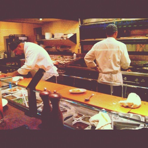 I love watching chefs in action! I need to get cooking again (Taken with instagram)