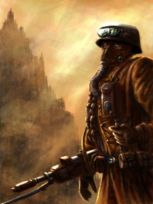 frothshield:  This is one of my favorite Imperial Guard art. He done a great job with the eyes.
