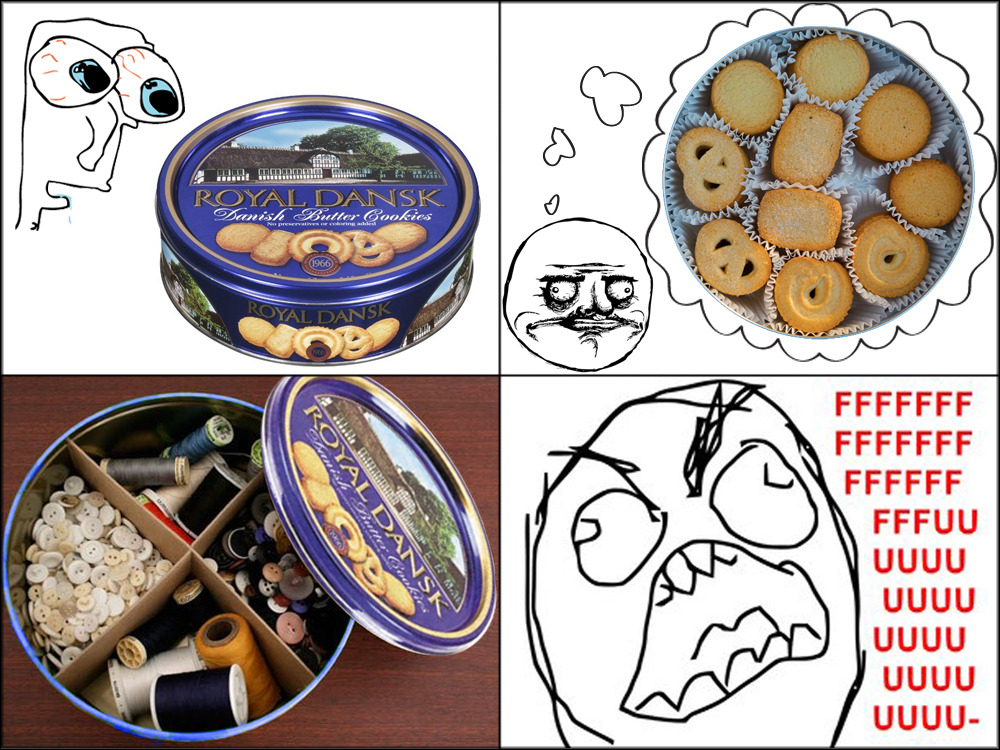 fallenlegacy:  Expectations: Cookies Reality: Mom's random things that she is storing in the tin