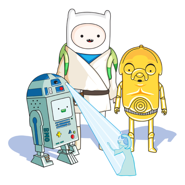 omg love adventure time…they should make an episode star wars-style :) BF Comment: that would be cute