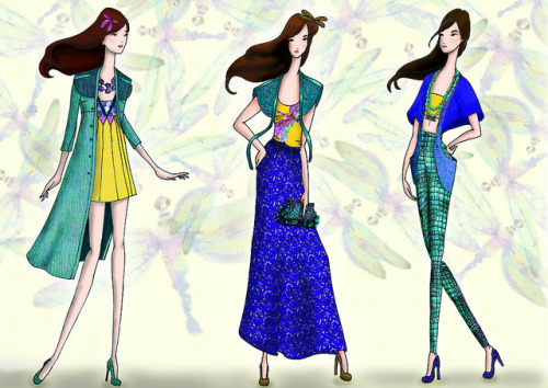 dragonflies collection - photoshop excise
