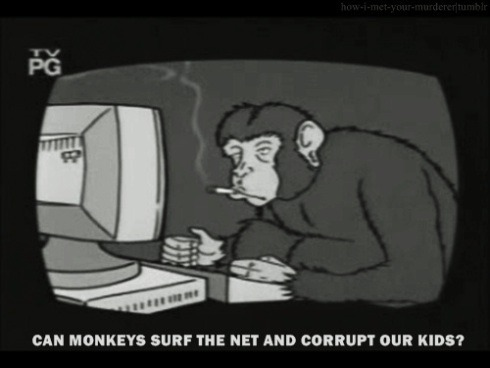 Chimpanzee chatrooms, next on Sick Sad World!