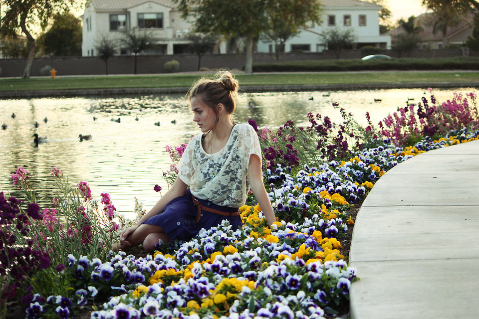 lookbookdotnu:  Evening in the flowers (by Heather Bybee)