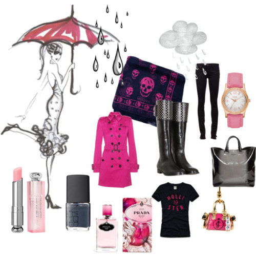 it's raining again by labiondaprof featuring skull scarvesHollister Co graphic tee, $25Paige Denim skinny leg jeans, £113Alexander McQueen leather boots, €540Prada black patent leather handbag, £449Dkny watch, $135Skull scarve, $325Dior Addict Lip Glow, $30NARS Nail Polish, $18Shop Juicy Couture Daydreamer Charm in Gold at Sidestreet Boutique, $58