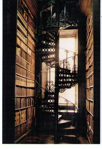 iron spiral staircase for the library