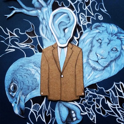 #illustration #lion #falcon #bird #mouth #lips #ear #blue #suite  (Taken with instagram)