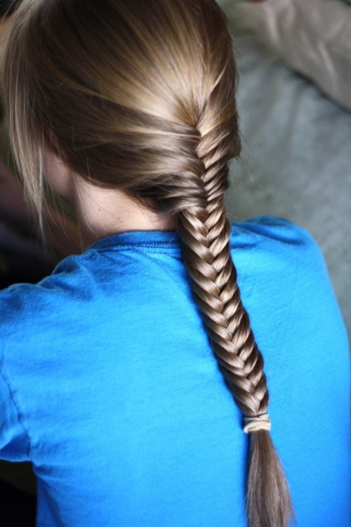 DIY French Braided Fishtail. Tutorial by The View From In Here.