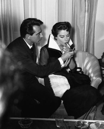 Ava Gardner and Walter Chiari