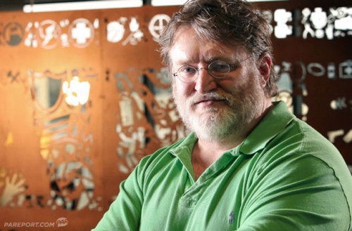 inesanity:  Gabe Newell found a new misc grows a beard!  Gaben looks like he's homeless or a talented drunk.