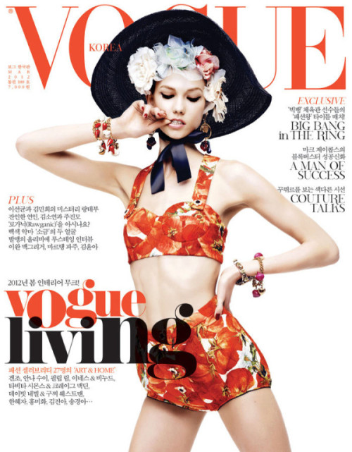 dolcegabbana:  Karlie Kloss in Dolce & Gabbana SS12 for Vogue Korea March 2012