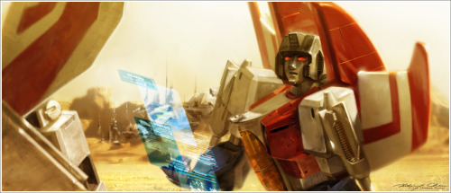 Skyfire and Starscream by ~Xiling