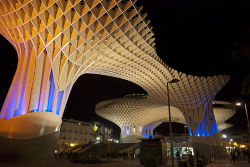 tumblush:  The Metropol Parasol is the largest wooden structure in the world. It is located in La Encarnación square, in the old quarter of Seville, Spain.   I honestly never knew that. Makes it that much cooler I guess :)
