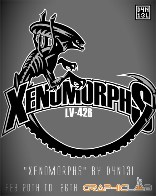 "d4n13ldesigns:  ""Xenomorphs"" by D4N13L a.k.a. D4N150T0 a.k.a. Daniel Sotomayor Available February 20th all the way to the 26th, first print EVER on GraphicLab!"