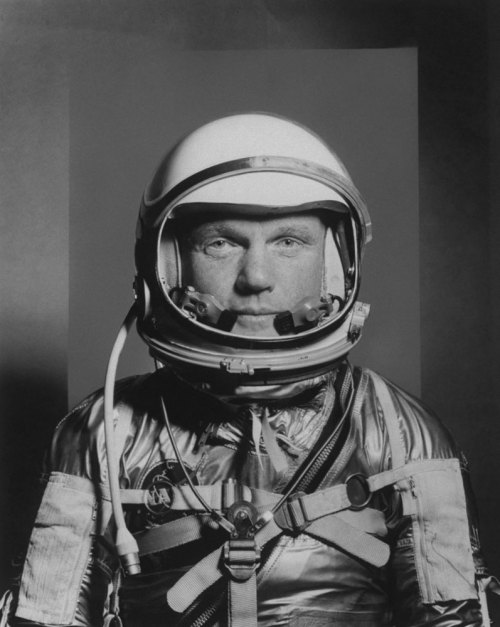 life:  Fifty years after John Glenn orbited the Earth in Friendship 7, LIFE commemorates the era-defining event with unpublished pictures from  his early career as both astronaut and fledgling politician. Pictured: John Glenn, astronaut, in a flight suit and helmet, 1959 (see more — John Glenn: Unpublished Photos)