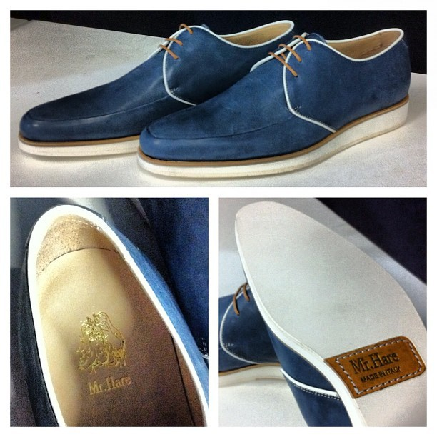 Looking forward to getting our feet into these Derby shoes from @therealMrHare (arriving on site tomorrow) #comingsoon (Taken with instagram)