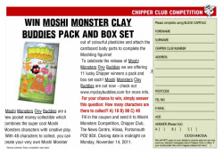 Free Moshi Monsters Clay Buddies pack with the Crawley Observer.