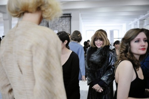turple:  Anna Wintour at Rodarte Fall 2012 RTW