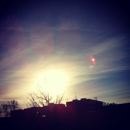 #sky #sun #sunset #winter #monday #blue #bright #nature #beautiful #paradise #sweden #swedishwinter #2012 #ig #like #follow #photography  (Taken with instagram)