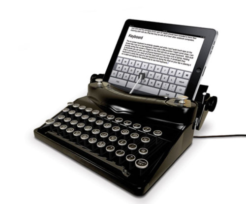 Retro Typewriter iPad Dock