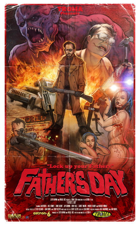 "Father's Day by Corlen Kruger / Website / Store 17.7"" X 29.5"" Screen print. S/N edition of 10, available HERE."
