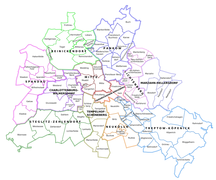 "The city of Berlin is one of three city-states and one of the 16 states of Germany. It has its own House of Representatives (Abgeordnetenhaus) which acts as the state parliament. The Senate of Berlin is the executive of the city, comprising 8 senators and a Governing Mayor. The city is divided into twelve borough's, each of which maintains its own borough council and mayor, though they all remain subordinate to the Senate of Berlin. Also, through a practice known as ""sister cities"" Berlin partners with 17 cities across the world in order to foster economic and cultural relations, making Berlin a truly global city."