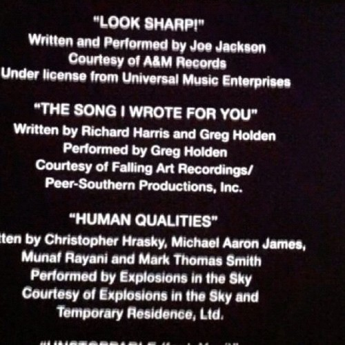 "In the credits of the new movie ""This Means War"" :) (Taken with instagram)"