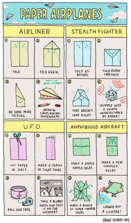 laughingsquid:  Paper Airplanes