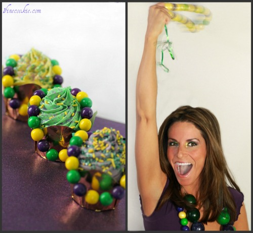 Edible Beaded Necklaces. Adorn Your Neck or Cupcakes With Them.  http://www.1finecookie.com/2012/02/gumball-beaded-necklaces-adorn-your-neck-or-cupcakes-with-them/