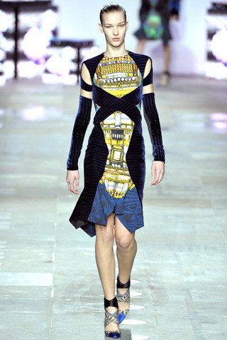 Peter Pilotto Fall RTW 2012 London Fashion Week Photo via Style.com  One thing Pilotto never fails on are colorful prints that looks good.