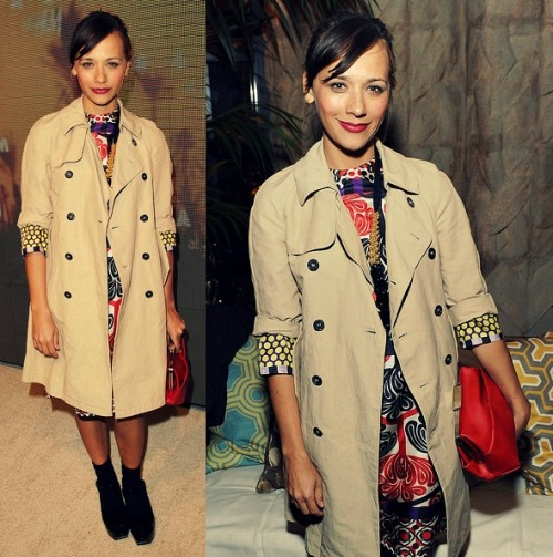 Rashida Jones in Marni Foulard Spring/Summer 2012