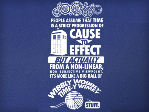This week we bring you a hot Whovian special from the mind of Tom Trager. This design showcases Pure and Simple Genius, the very best kind. When I first saw this tee, I instantly felt it summed up Doctor Who all in one impressive quote.Tom has an impressive variety of designs to be found at http://www.redbubble.com/people/tomtrager/portfolio, where you'll find a humous twist on everything from 'Dr Who' to 'Big Bang Theory' to 'Monty Python'. Check it out!