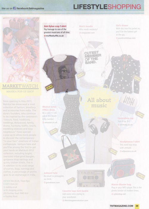 TNT Mag featuring our Bob Dylan tee…